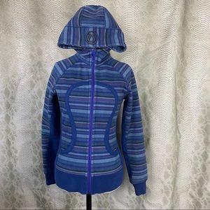 Lululemon scuba striped zip up hoodie